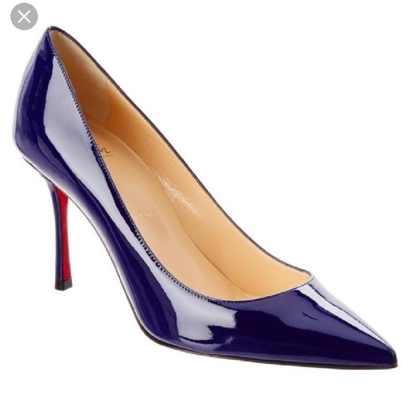 christian louboutin shoes nwt decoltish 85mm blue poshmark rh poshmark com
